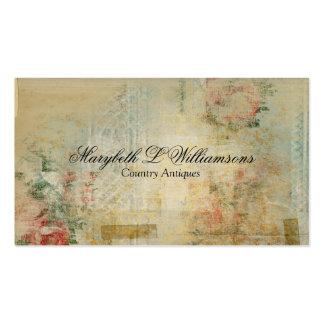 Vintage Antique Soft Flower Blends Blue Business Card Template