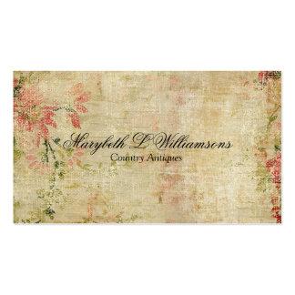 Vintage Antique Soft Flower Blends Pinks Business Card Template