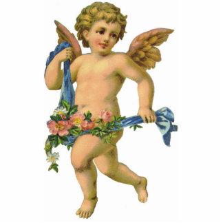 Vintage / Antique Striding Angel Cherub Ornament Photo Sculpture Decoration