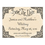 Vintage Antique Style Save The Date Postcard