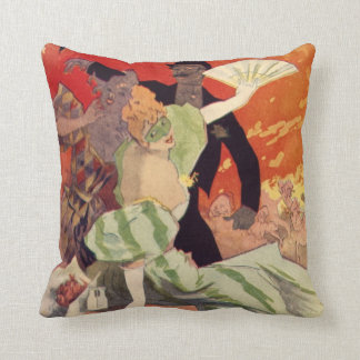 Vintage Antique Theatre Opera Carnaval Cushion