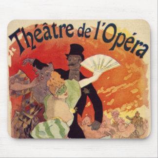 Vintage Antique Theatre Opera Carnaval Mouse Mat