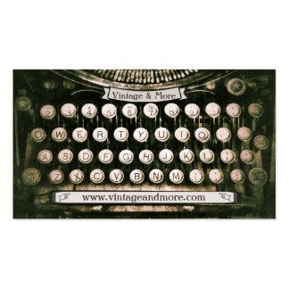 Vintage Antique Typewriter Business Card Template