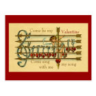 Vintage Antique Valentine's Day Musical Postcard