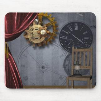 Vintage Antique Wallpaper Clocks Gears Mousepad