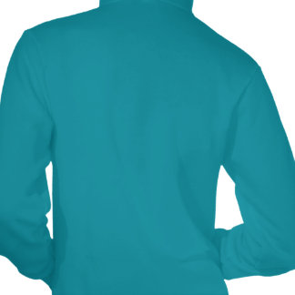 Vintage Antique White Anchor Turquoise Background Hoodie