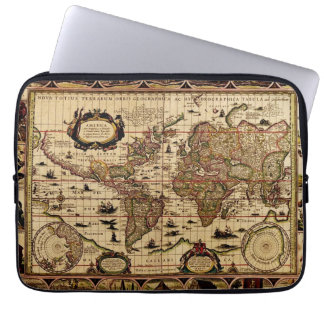 Vintage Antique World Map Design Laptop Sleeve