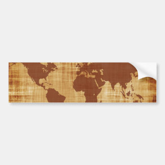 Vintage Antique World Map Montage Bumper Sticker