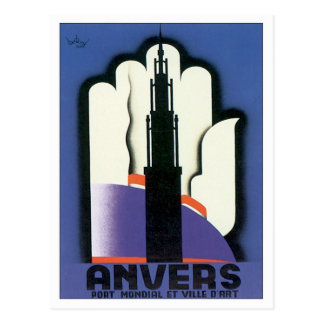 Vintage Anvers Antwerp Postcard