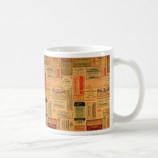 Vintage Apothecary Labels, Medicine, Steampunk Coffee Mug