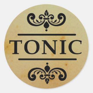 Vintage Apothecary Tonic Bottle Halloween Stickers