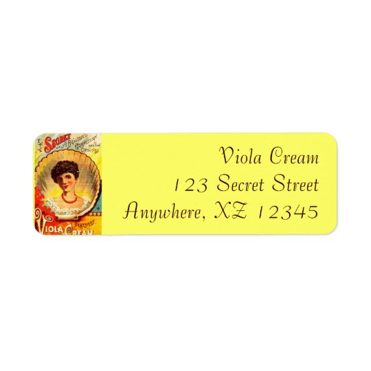 Vintage Apothecary Woman Return Address Label