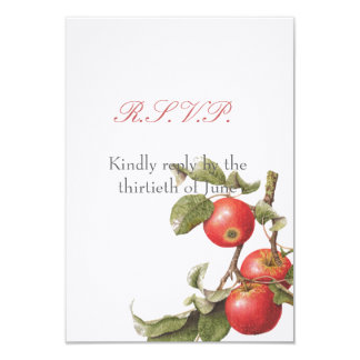 Vintage Apple Blossom RSVP Card