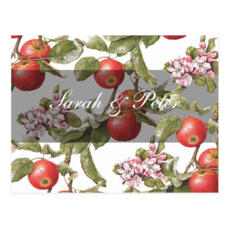 Vintage Apple Blossom Save-the-Date Postcard