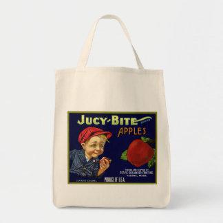 Vintage Apple Crate Label Bag