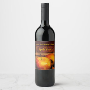 Apple Wine & Champagne Labels   Zazzle co uk