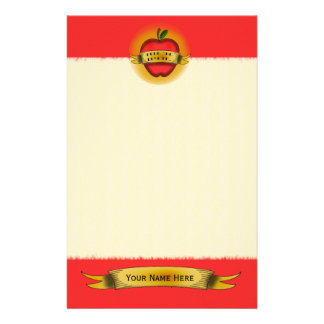 Vintage Apple Tattoo Teacher Stationery