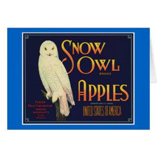 Vintage Apples Food Product Label Greeting Card