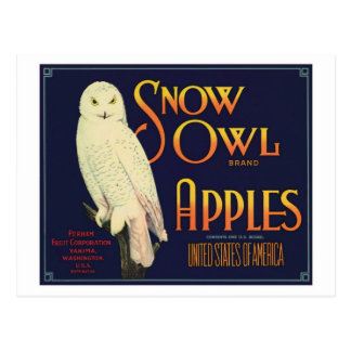 Vintage Apples Food Product Label Post Cards
