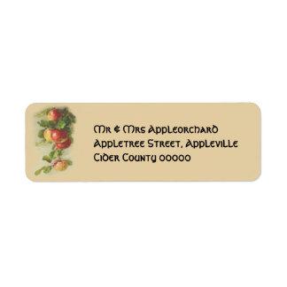 Vintage apples return address label
