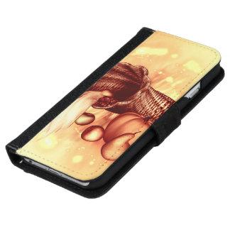 Vintage, apples, pears, corn and pumpkin iPhone 6 wallet case