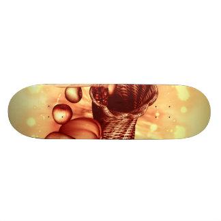 Vintage, apples, pears, corn and pumpkin skate board deck