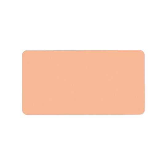 Vintage Apricot Peach Personalised Cream Colour Address Label