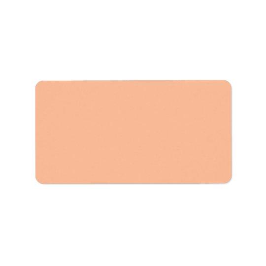 Vintage Apricot Peach Personalised Cream Colour Label
