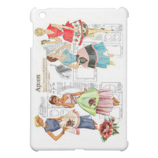 Vintage Apron Sewing Pattern iPad Case