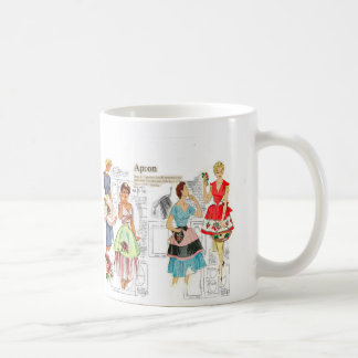 Vintage Apron Sewing Pattern Mug