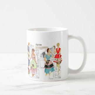 Vintage Apron Sewing Pattern Mug