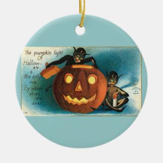 Vintage Aqua Halloween Christmas Ornament
