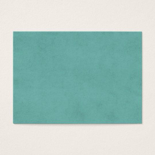 Vintage Aqua Parchment Antique Paper Background Business Card