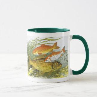 Vintage Aquatic Goldfish Koi Fish, Marine Sea Life Mug