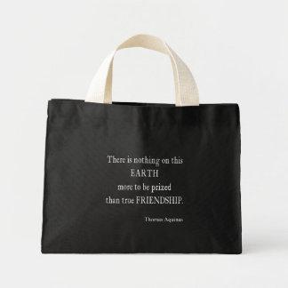 Vintage Aquinas Friendship Inspirational Quote Bag