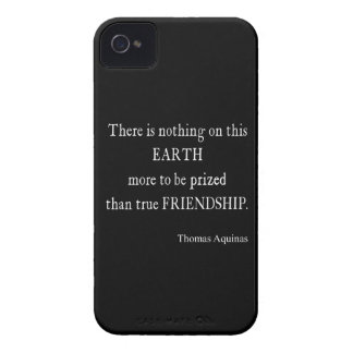 Vintage Aquinas Friendship Inspirational Quote iPhone 4 Case