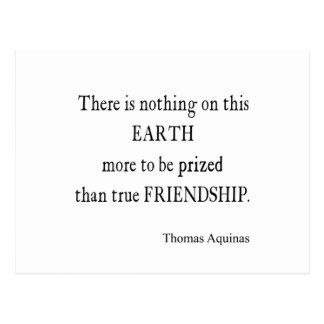 Vintage Aquinas Friendship Inspirational Quote Postcard