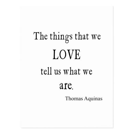 Vintage Aquinas Love Inspirational Quote / Quotes Postcard