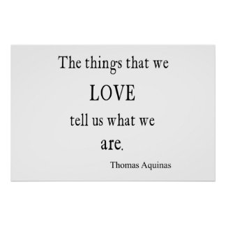 Vintage Aquinas  Love Inspirational Quote / Quotes Poster