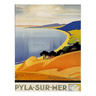 Vintage Aquitaine, Pyla-sur-mer, France - Postcard