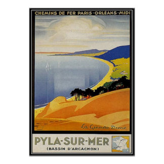 Vintage Aquitaine, Pyla-sur-mer, France - Posters
