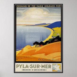 Vintage Aquitaine Pyla-sur-mer France - Posters