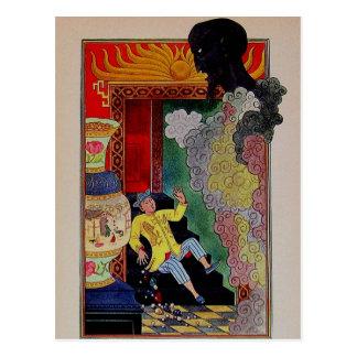 Vintage Arabian Nights Aladdin and the Genie Postcard