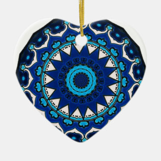 Vintage ARABIC tile Iznik, Turkey, 16th century. Ceramic Heart Decoration