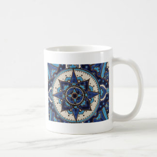 Vintage ARABIC tile Iznik, Turkey, 16th century. Coffee Mug