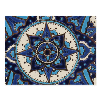Vintage ARABIC tile Iznik, Turkey, 16th century. Postcard