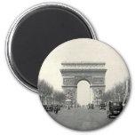 Vintage Arc de Triomphe  France Fridge Magnet