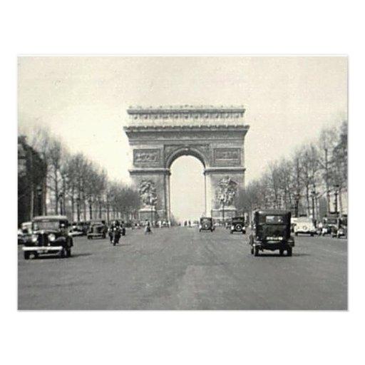 Vintage Arc de Triomphe  France Personalized Invite