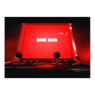Vintage Arcade Game Over Card