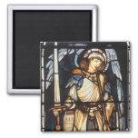 Vintage Archangel, Saint Michael by Burne Jones Refrigerator Magnets